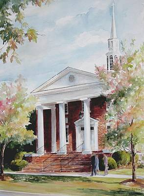 First Baptist Church Sold Art Print by Gloria Turner