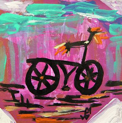 First Bike Art Print by Mary Carol Williams
