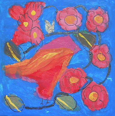 Art Print featuring the painting First Bird by Artists With Autism Inc