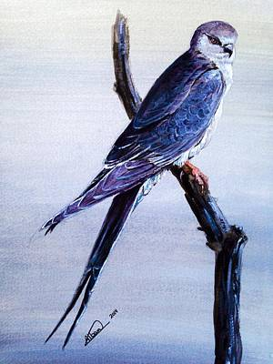 Painting - First Bird Painting by Alban Dizdari