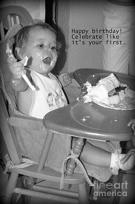 Photograph - First Birthday by Valerie Reeves