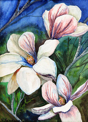 Kristine Painting - First Bloom by Kristine Plum