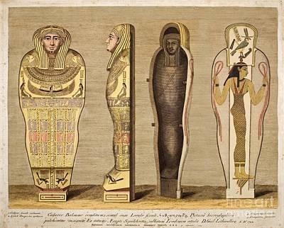 First British Museum Sarcophagus, 1724 Art Print by Paul D. Stewart