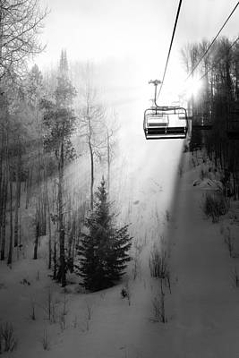 Winter Photograph - First Chair by Sean McClay