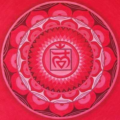 First Chakra Mandala Art Print by Vlatka Kelc