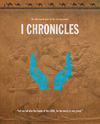 First Chronicles Books Of The Bible Series Old Testament Minimal Poster Art Number 13 Art Print by Design Turnpike
