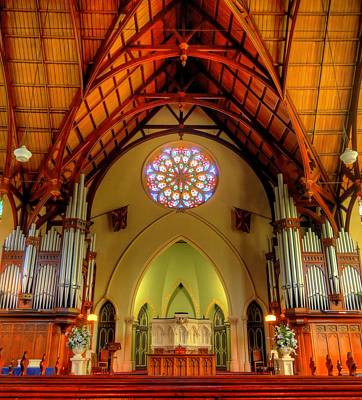 Photograph - First Church Of Otago Interior by Peter Mooyman