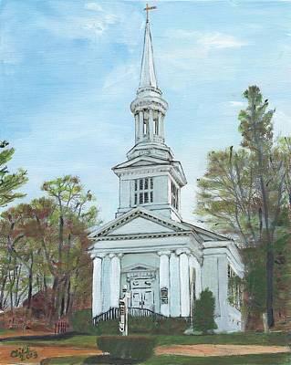 First Church Sandwich Ma Art Print