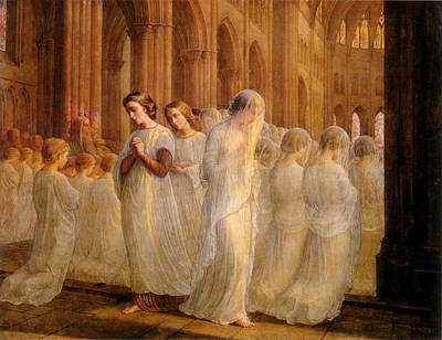 Communion Digital Art - First Communion by Anne Francois Janmot