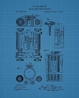 Drawing - First Computer Blueprint Patent by Dan Sproul
