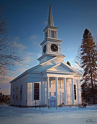Photograph - First Congregational Church Newbury Vermont by Nancy Griswold