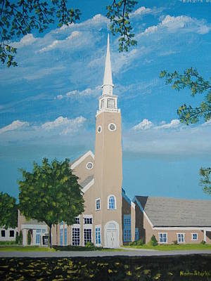 First Congregational Church Art Print by Norm Starks