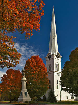 First Congregational Church Of Manchester Art Print