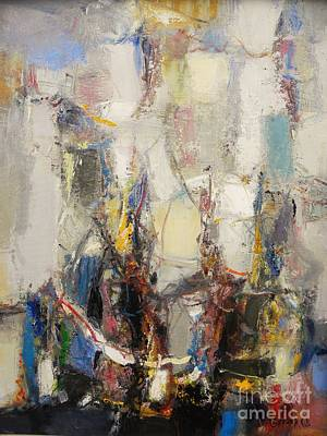 Abstract Painting - First Date by Grigor Malinov