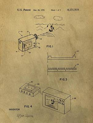 Vintage Camera Mixed Media - First Digital Camera Patent by Dan Sproul