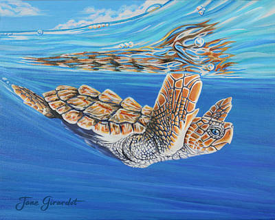 Painting - First Dive by Jane Girardot