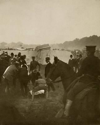 First Fatal Air Crash, 1908 Art Print