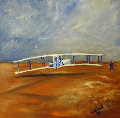 Painting - First Flight Aka Kittyhawk Dream by Tina Swindell