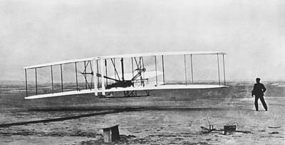 1903 Photograph - First Flight by Underwood Archives