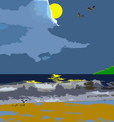 Beach Digital Art - First Flight by William Sargent
