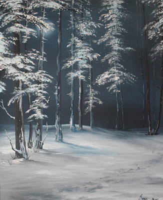 Cannock Chase Painting - First Footprints by Jean Walker