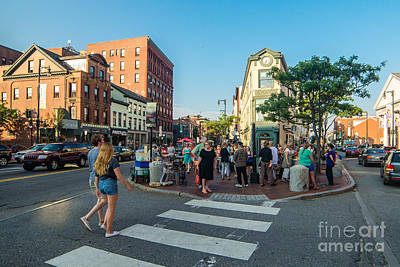 First Friday Photograph - First Friday In Congress Square by Corey Templeton