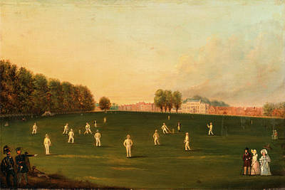 Cricket Painting - First Grand Match Of Cricket Played By Members Of The Royal by Litz Collection