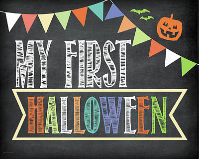 Halloween Sign Painting - First Halloween Photo Prop by Jo Moulton