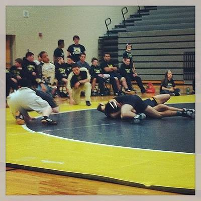 Wrestling Photograph - First #highschool #wrestling Match Ever by Megan Batrez