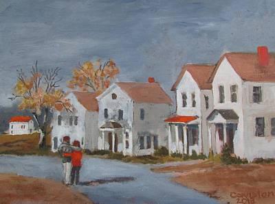 Painting - First House by Tony Caviston