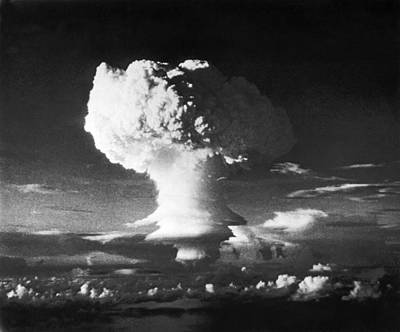 Destruction Island Photograph - First Hydrogen Bomb Explosion by Underwood Archives
