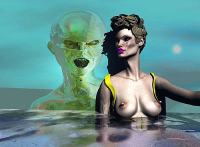 Digital Art - First Kiss 500 by Stephen Donoho