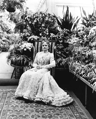 Photograph - First Lady Ida Mckinley by Underwood Archives