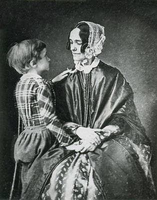 Appleton Photograph - First Lady Jane Pierce With Son Benjamin by Science Source