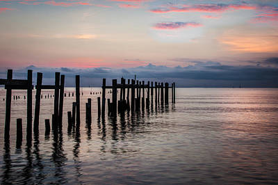 Photograph - First Light At Kemah by James Woody