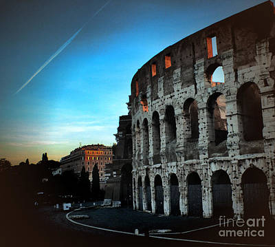 Photograph - First Light At The Colosseum by Karen Lewis
