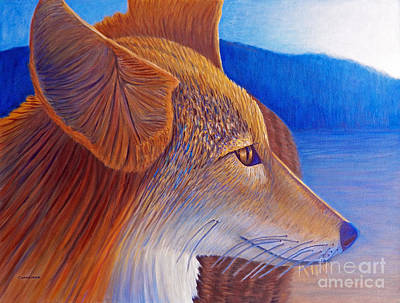 Wildlife Landscape Painting - First Light by Brian  Commerford