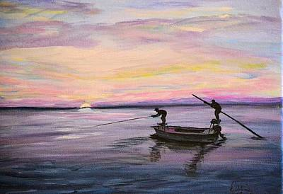 Painting - First Light by Debbie Baker