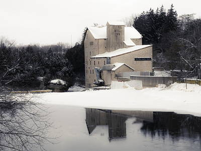 Photograph - First Light - Elora Mill by Alan Norsworthy