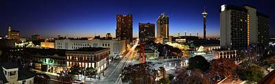 San Antonio Wall Art - Photograph - First Light On San Antonio Skyline - Texas by Silvio Ligutti