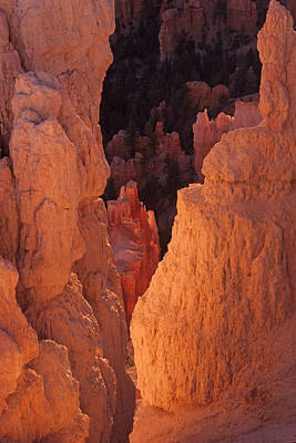 First Light On Hoodoos Art Print