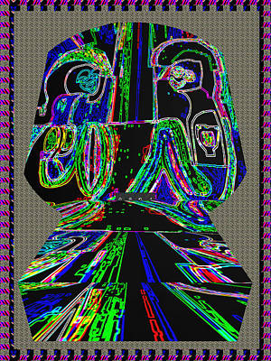 First Love Ghost Talk On The Tomb Stone  Neon Light Art By Navin Joshi Art Print