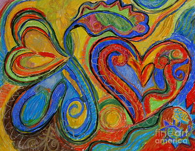 Mixed Media - First Love by Kelly Athena