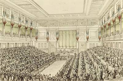 First Meeting Of The National Assembly, 4th May 1848  Art Print by Michel C Fichot