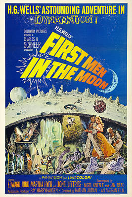 First Men In The Moon Art Print by MMG Archives