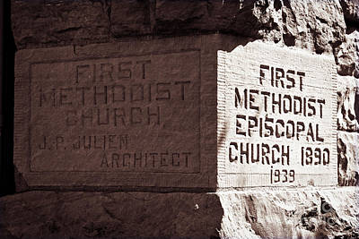 Photograph - First Methodist Episcopal Church by Lawrence Burry