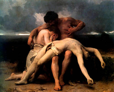 Keith Richards - First Mourning by William Adolphe Bouguereau
