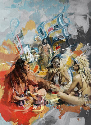 Painting - First Nations 42 by Corporate Art Task Force