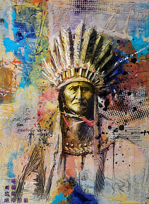 First Nation Painting - First Nations 6 by Corporate Art Task Force