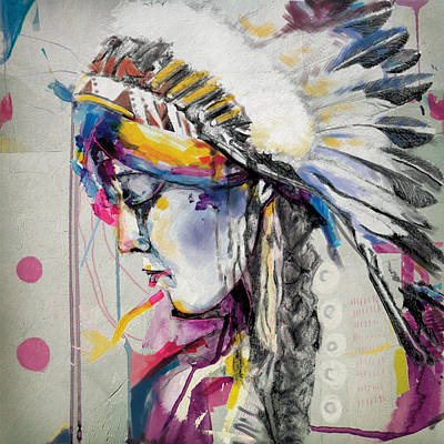 First Nation Painting - First Nations 7 by Corporate Art Task Force